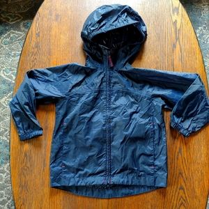 Lands' End hooded packable raincoat size Small 4